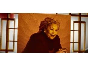 Toni Morrison Lithophane