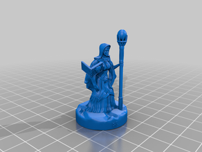 Mage with Tome - 8 Staff Options - Support Free Mini 28mm