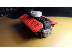 USB HOLDER - Corvega Atomic V8 Motor style Multipart EDITION