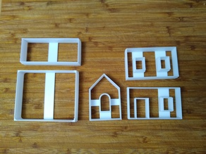 Mini Gingerbread house Cutter- Complete Compact file