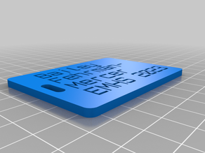 My Customized Customizer Version of luggage label