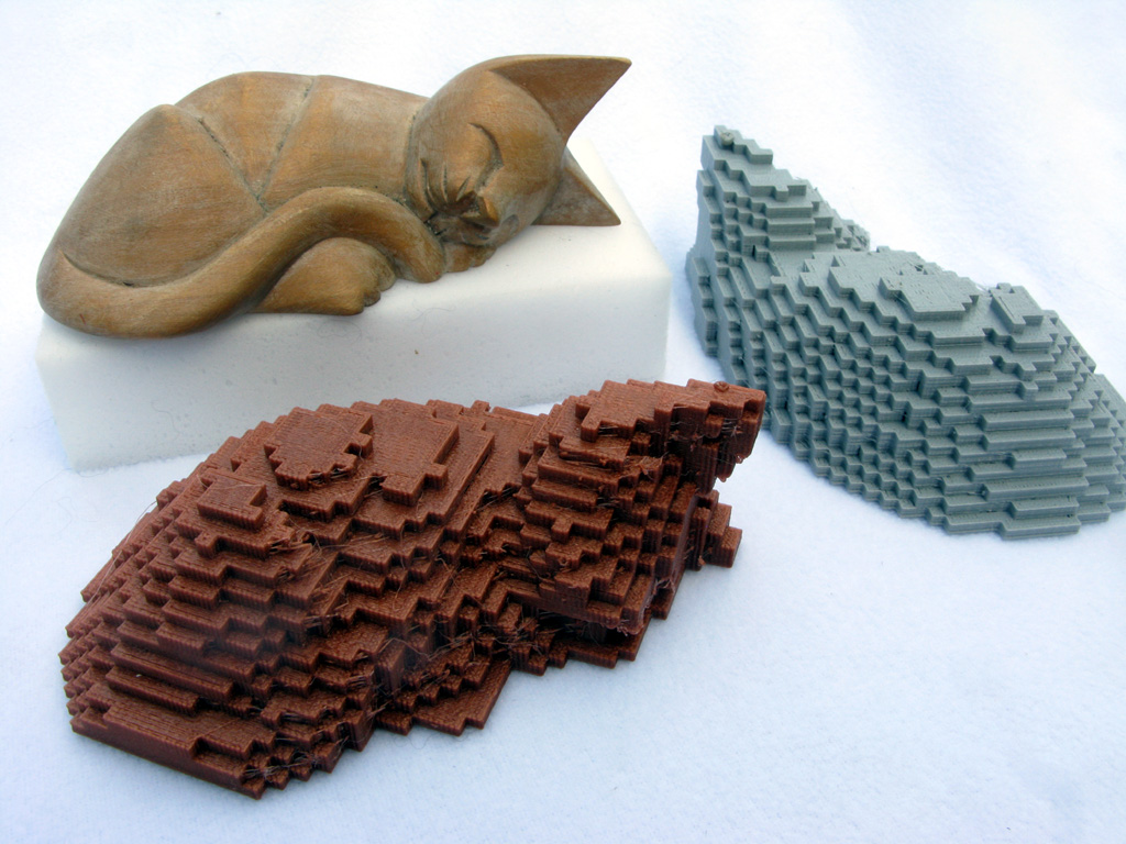 Cat made of Cubes