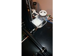 Ender 3 Pro Extruder Relocation Mount with Filament Guide / Runout Switch