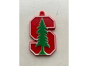 Stanford Logo Keychain