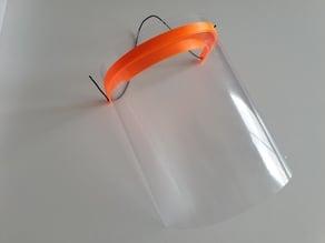 Visera anti-salpicaduras con ventilación