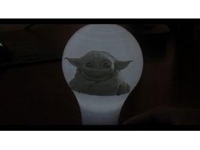 baby yoda lamp Lithophane