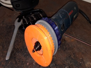 Die Grinder to Fixed Base Router Mod with Depth Adjust
