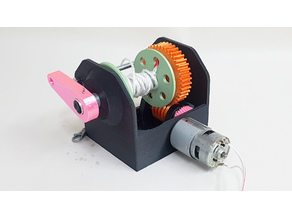 3D printed high torque gearbox – Building an electric hoist – worm gearbox