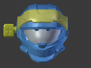 Halo Reach - CQC Helmet with Up Armor Attachments