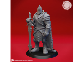 Armored Fighter / Knight - Tabletop Miniature
