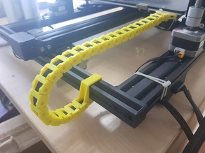 Open Y-axis drag chain for CR-10 V2