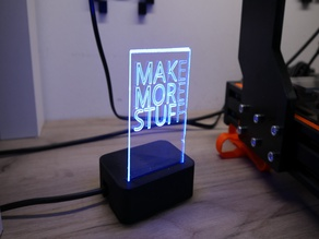 Acrylic Sign Plate Base for NeoPixel / WS2812B LED Bar