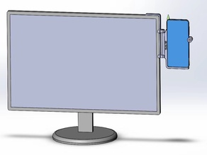 Flexible mobilephone/cellphone mount on computer monitor