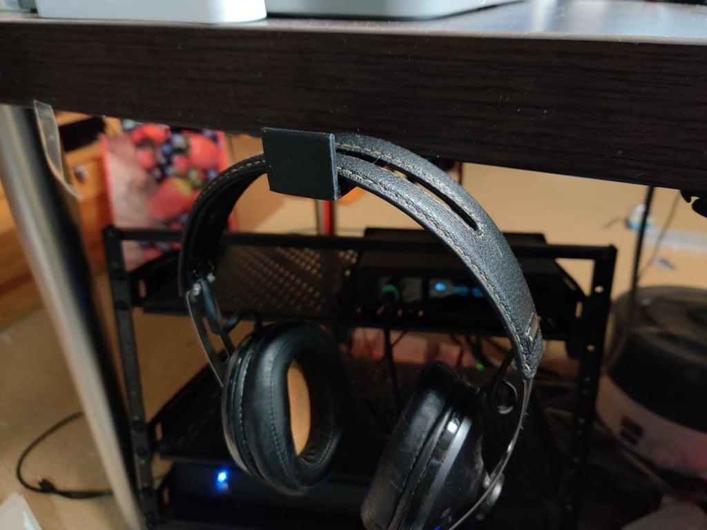 Under Desk Mounted Headphone or VR Headset Holder