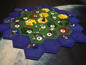 3D Magnetic Settlers of Catan
