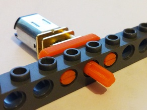 n20 motor lego technic mount + axle