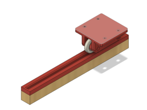 Open Drawer - a Guided Rail Carriage System - Roller Edition