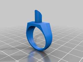 Ring model for metal casting (signet)