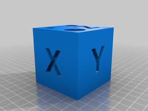 Calibration cube and hole size