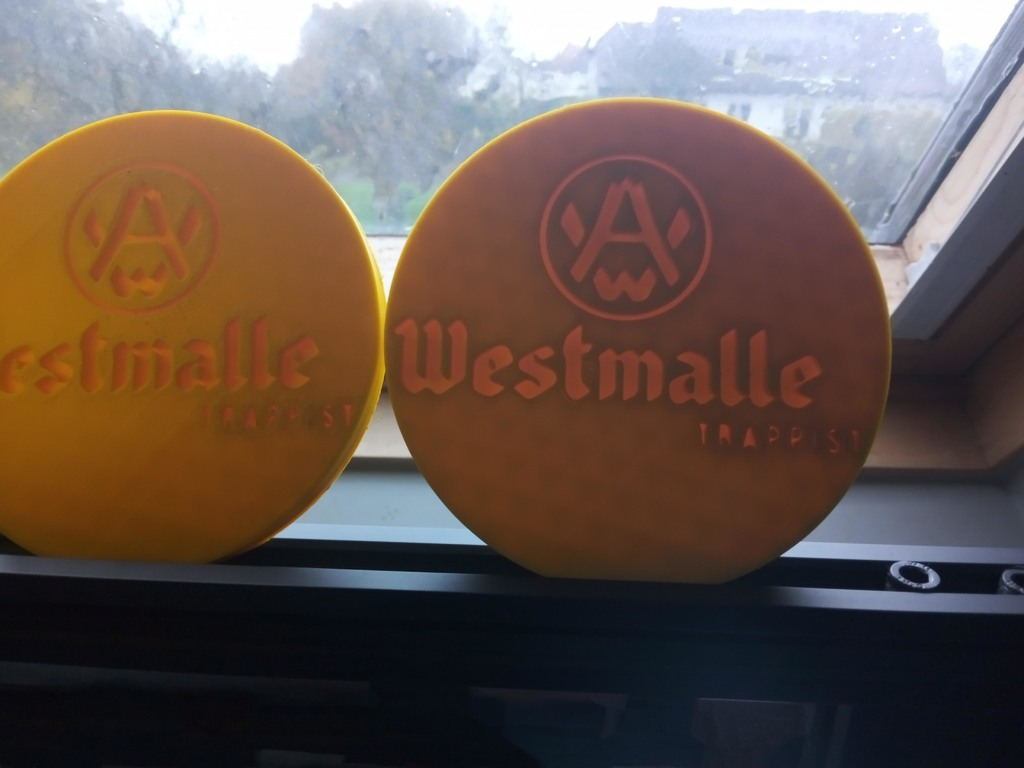 westmalle coaster for beer glas D90