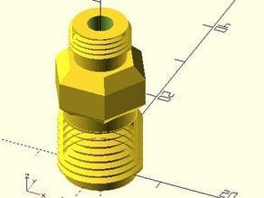 Airbrush adapter 1/4 to 1/8