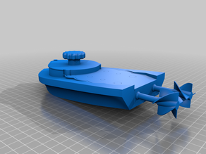 mini Wind-Up Boat Dual Drive - screwless - full 3d printed