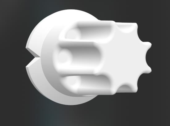 Knob 6 mm axis - 20/25/30 mm