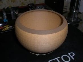 Bowl, wood and metal mix