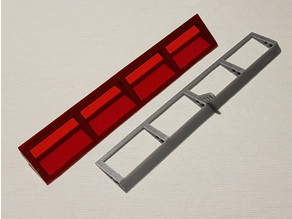 Aileron for modular RC model aircraft