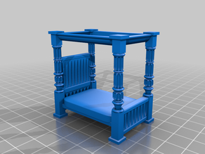 Quarter Scale Four-Poster Bed (28mm)