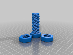 Two-way screw - Create your own with OpenSCAD and Thingiverse Customizer