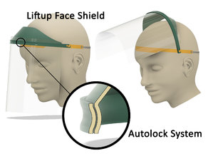 Liftup Face Shield with Autolock