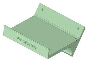 Wandkonsole für Fritz!Box 7490 ohne und mit Beschriftung