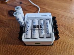 EBL Smart USB Charger Platform Battery Holder AA/AAA