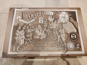 Awkward Guests - Kickstarter edition boardgame insert