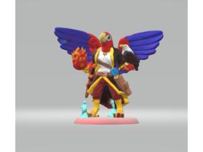 Pa'ratxi Warlock (parrot aarakocra)