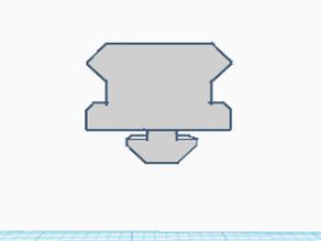 3D Printer Triangle Rail to Pic rail adapter