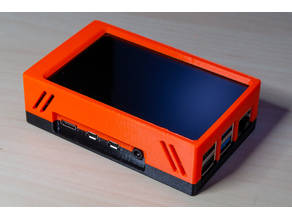 Hyperpixel 4.0 touch and Raspberry Pi 4B case (with Prusa MK3S bracket)