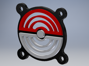 Pokeball 40mm fan cover
