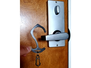 Hookie: The Low-profile Keychain Door Opener Claw with Button Presser & Ergonomic one-size-fits-all Handle