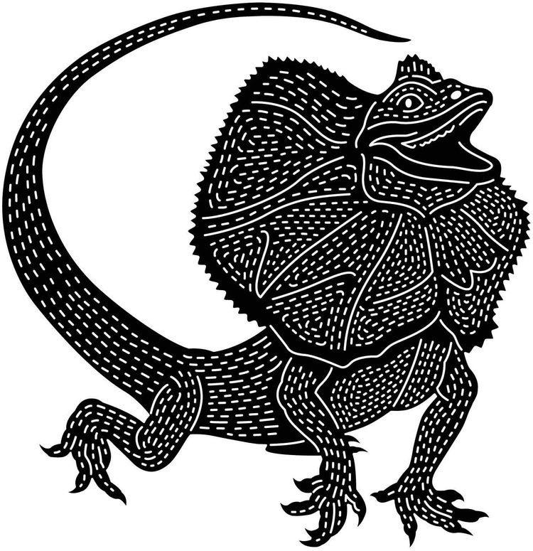 2d Frilled-neck lizard
