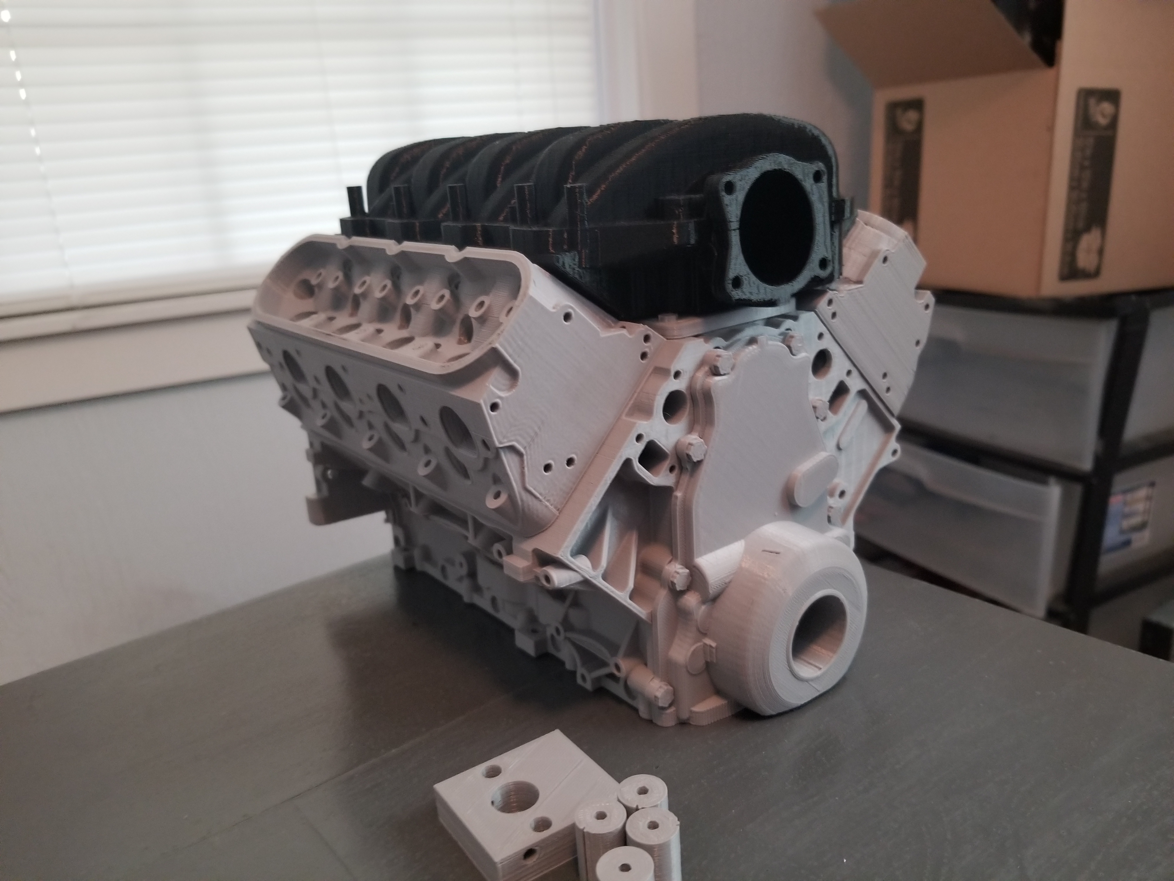 chevy camaro ls3 v8 engine scale working model by trueblueoval rh thingiverse com