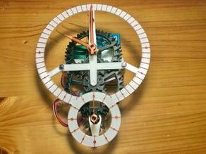 Arduino controlled mechanical clock