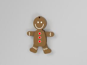 Gingerbread man woman ornament (moving)