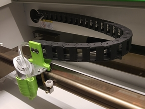Drag Chain Holder for K40 Lasercutter