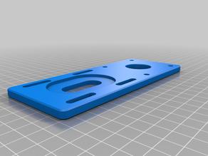 CNC belt drive plate (Nema 23 inversion for room gain)