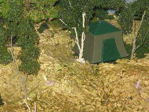 HO Scale Umbrella Tent