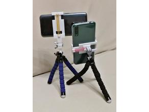 Phone holder with rubber band, gopro mount