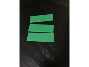 Simple Square & Rectangular Wargame Bases (1mm)