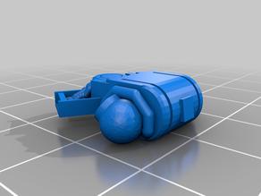 Space Jarhead Devastator Multi melta backpack